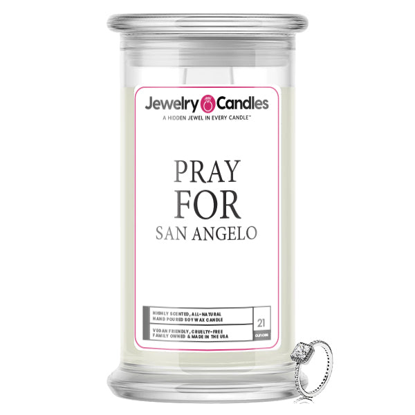 Pray For San Angelo Jewelry Candle
