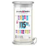 Happy 115th Birthday Jewelry Candle