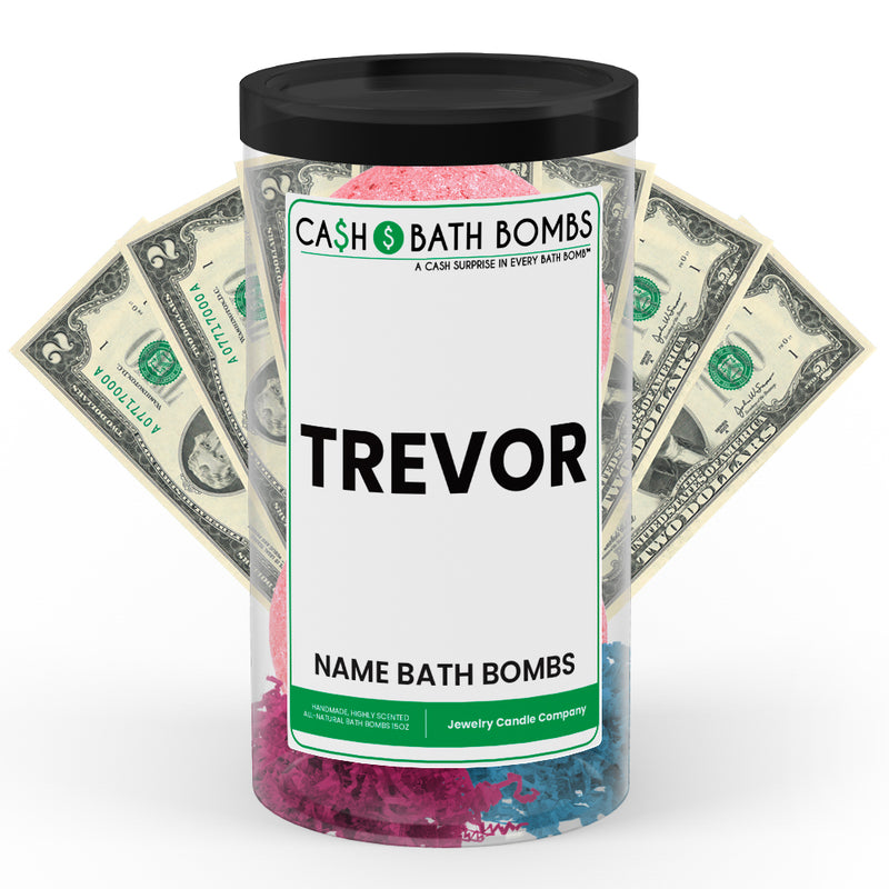 TREVOR Name Cash Bath Bomb Tube
