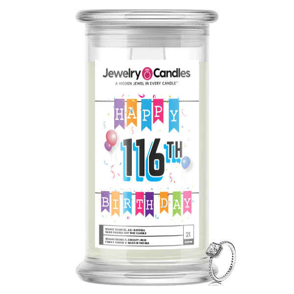 Happy 116th Birthday Jewelry Candle