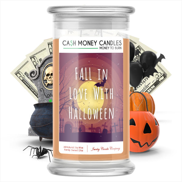 Fall in love with halloween Cash Money Candle