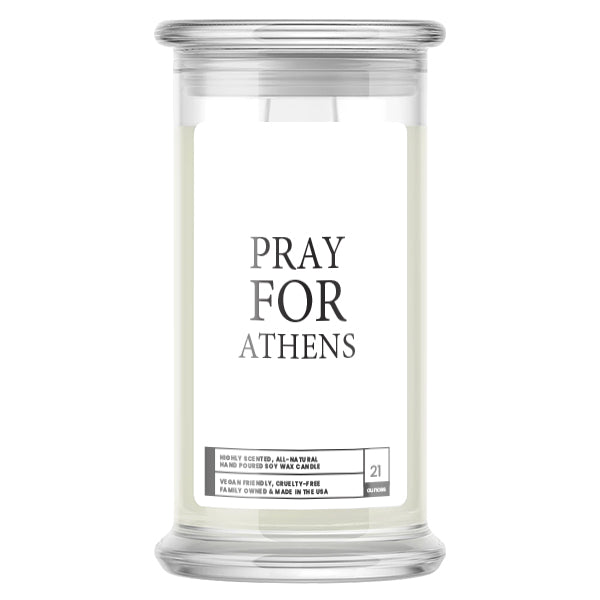 Pray For Athens Candle