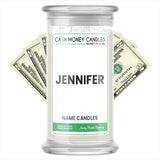 JENNIFER Name Cash Candles