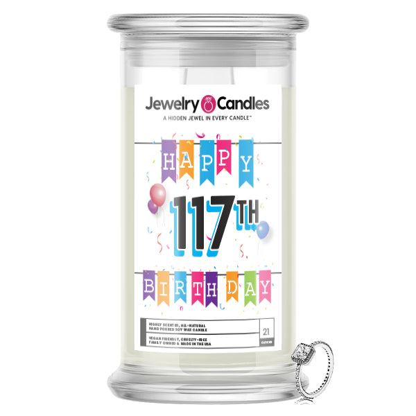 Happy 117th Birthday Jewelry Candle