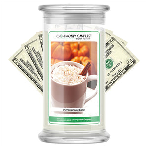 Pumpkin Spice Latte Cash Money Candles