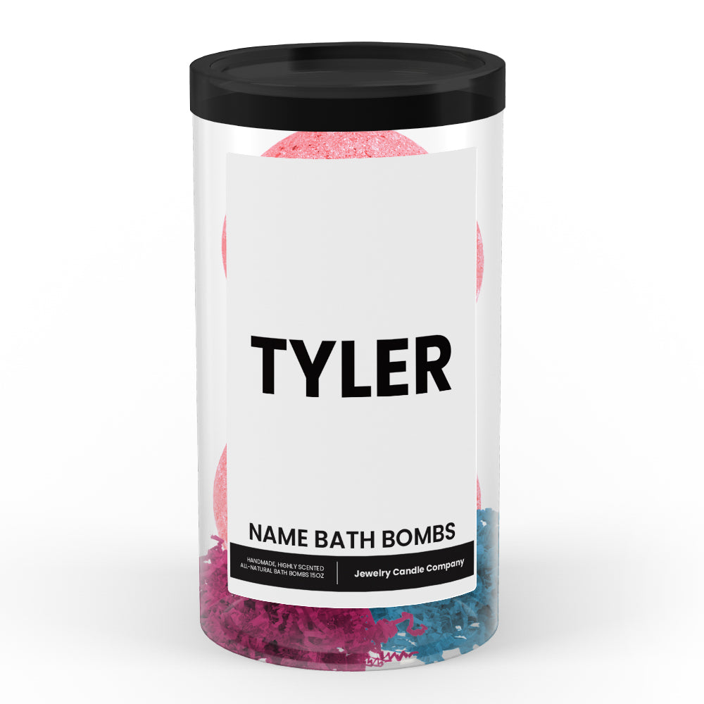 TYLER Name Bath Bomb Tube