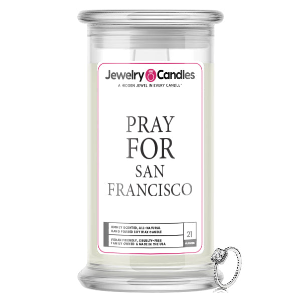 Pray For San Francisco Jewelry Candle