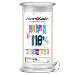 Happy 118th Birthday Jewelry Candle