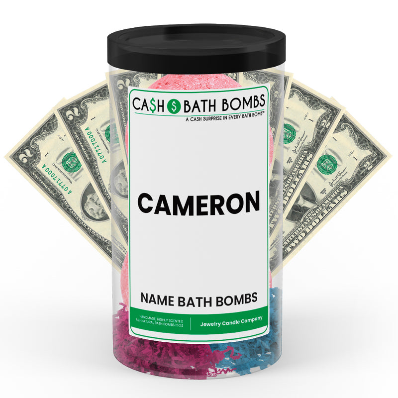 CAMERON Name Cash Bath Bomb Tube