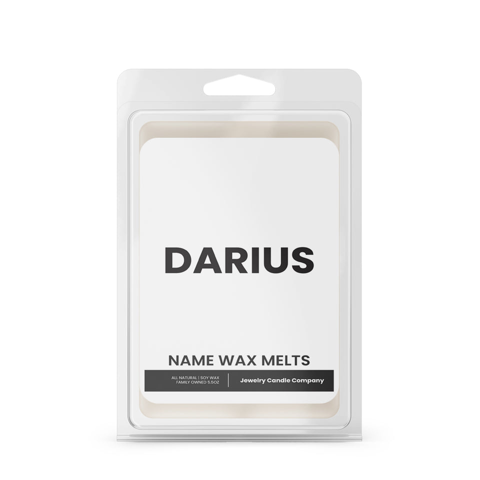 DARIUS Name Wax Melts