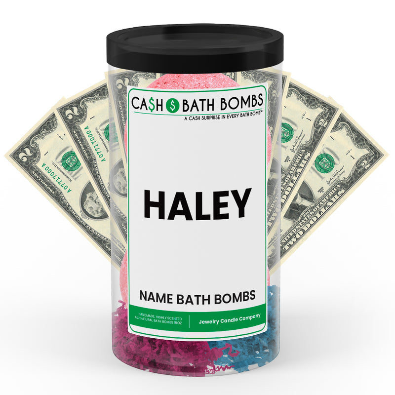 HALEY Name Cash Bath Bomb Tube