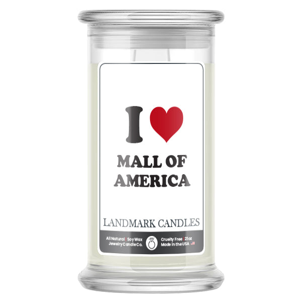 I Love MALL OF AMERICA Landmark Candles