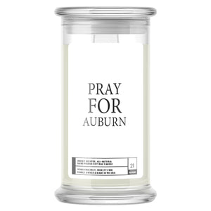Pray For Auburn Candle