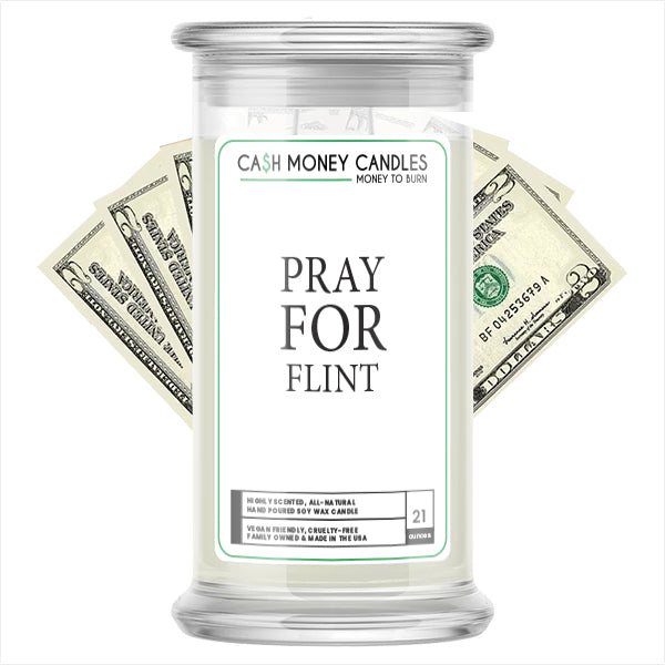 Pray For Flint Cash Candle