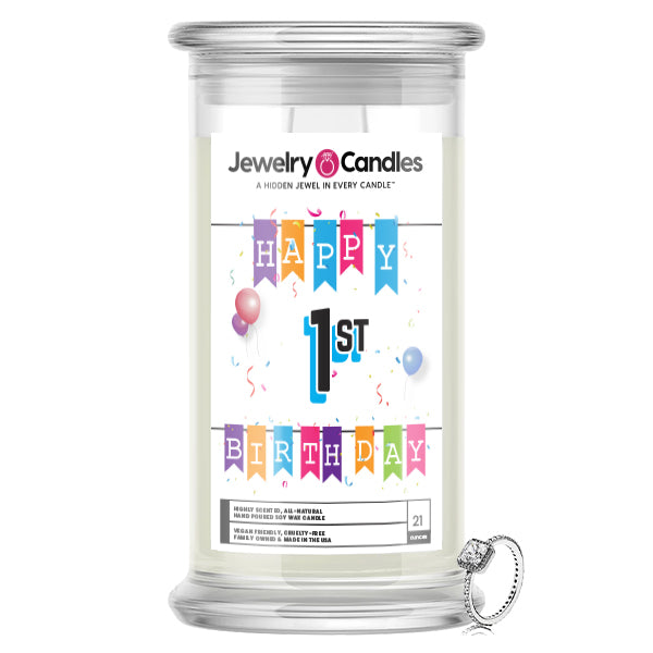Happy 1st Birthday Jewelry Candle