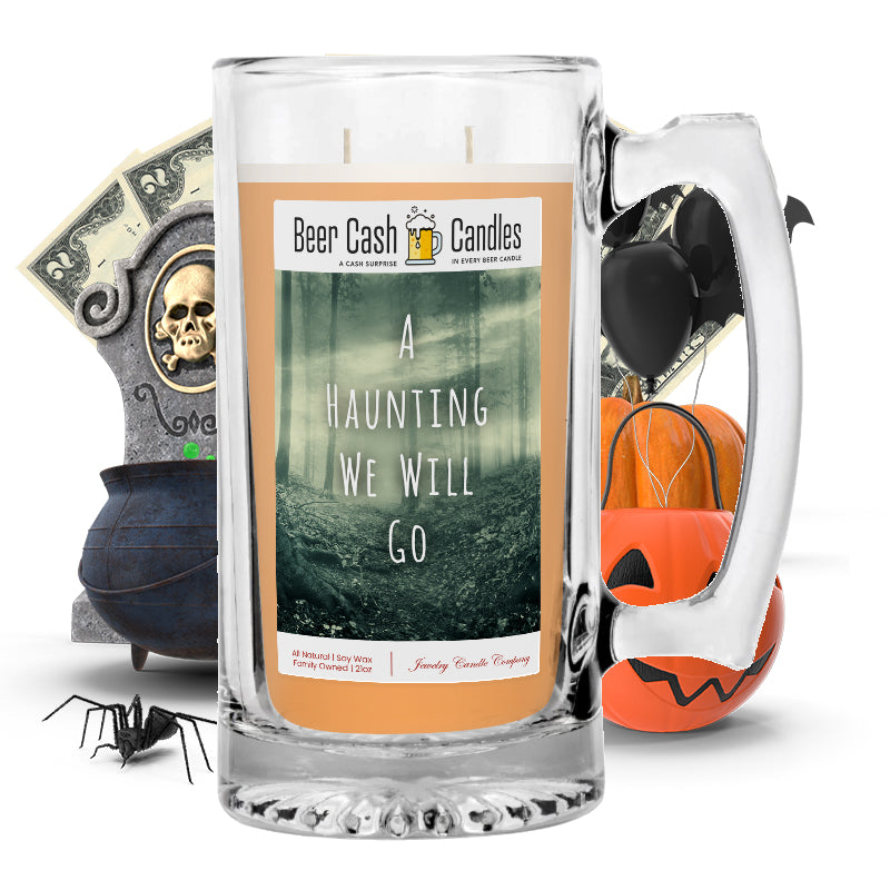 A hunting we will go Beer Cash Candle