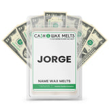 JORGE Name Cash Wax Melts