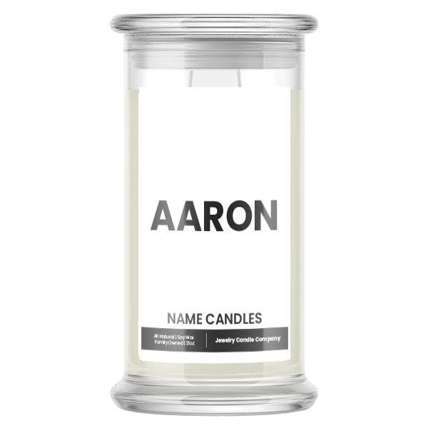AARON Name Candles