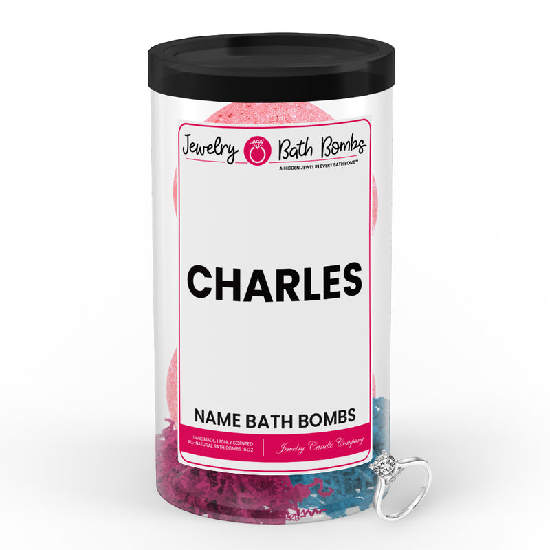 CHARLES Name Jewelry Bath Bomb Tube