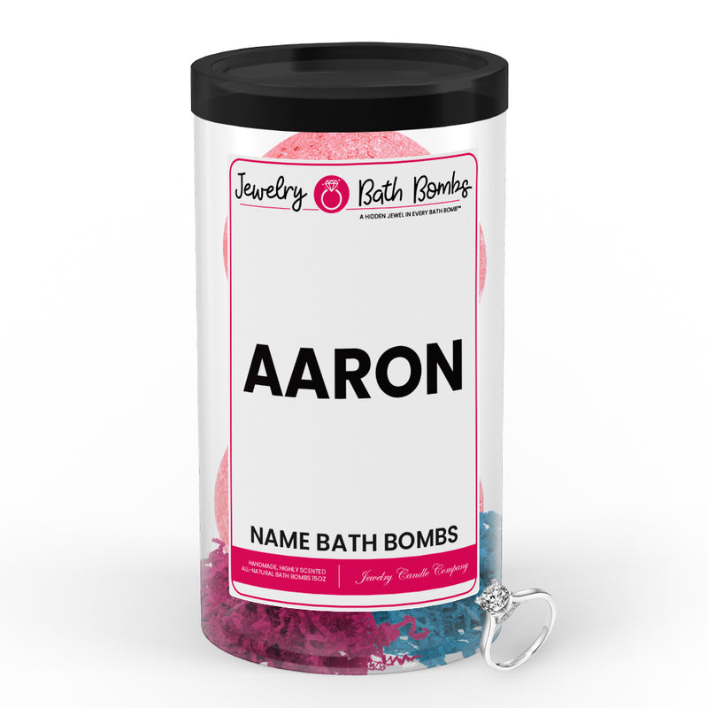 AARON Name Jewelry Bath Bomb Tube