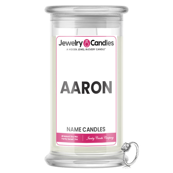 AARON Name Jewelry Candles