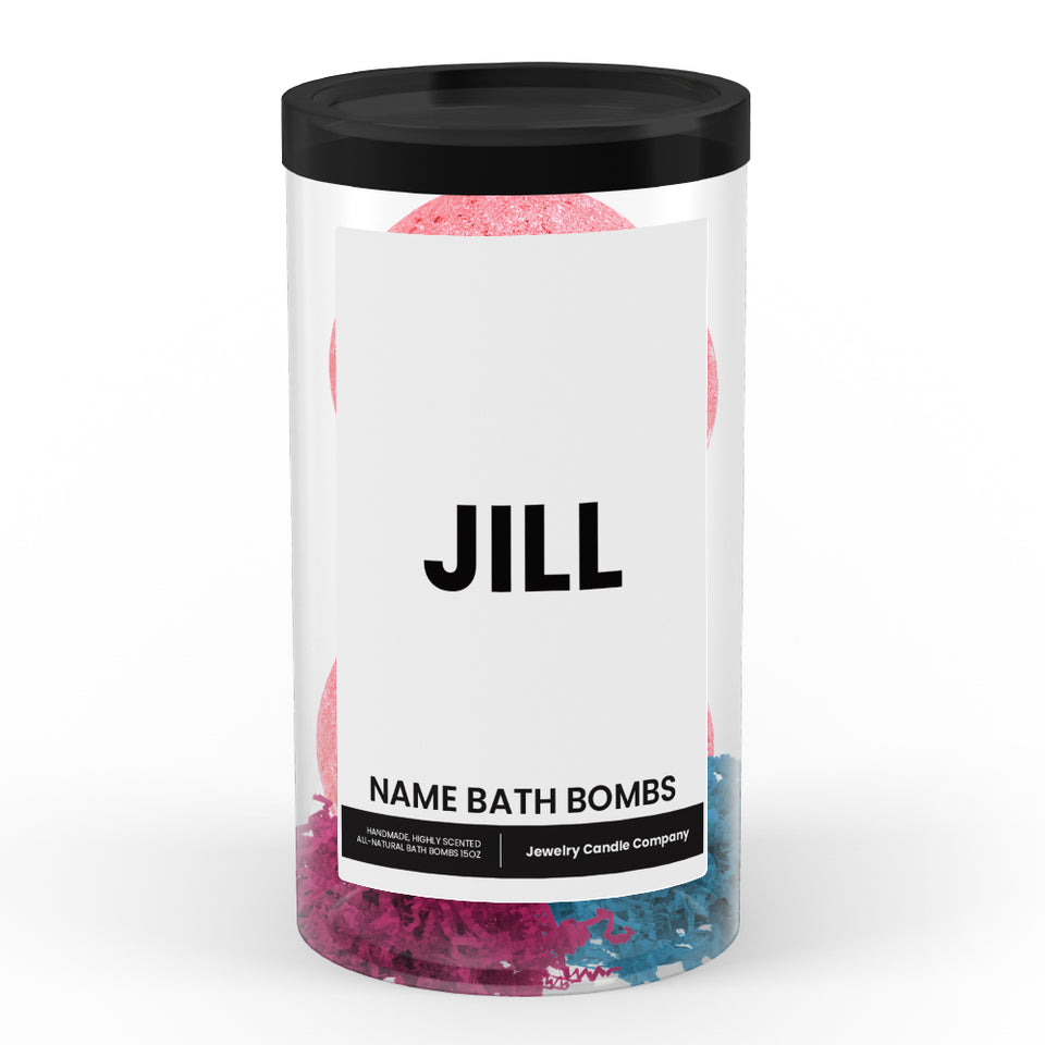 JILL Name Bath Bomb Tube