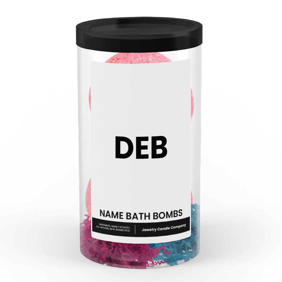 DEB Name Bath Bomb Tube