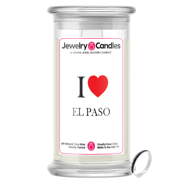 I Love ELPASO Jewelry City Love Candles