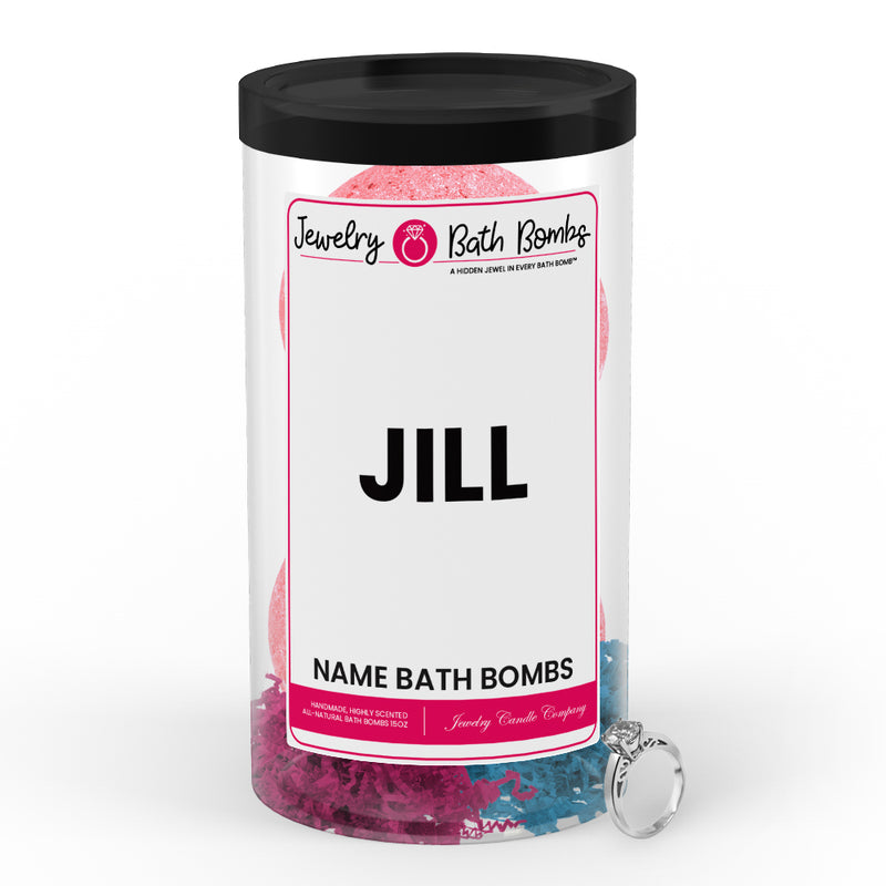 JILL Name Jewelry Bath Bomb Tube