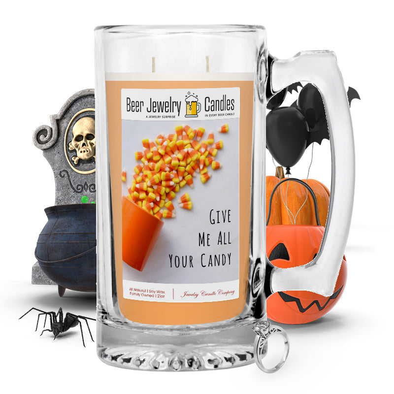 Give me all your candy Beer Jewelry Candle