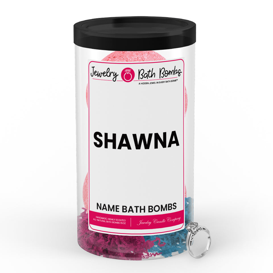 SHAWNA Name Jewelry Bath Bomb Tube