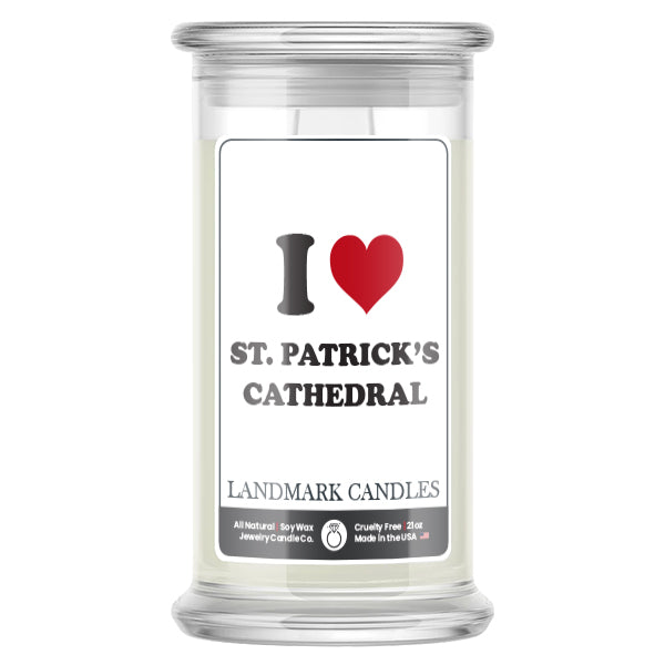 I Love ST. PATRICK'S CATHEDRAL Landmark Candles