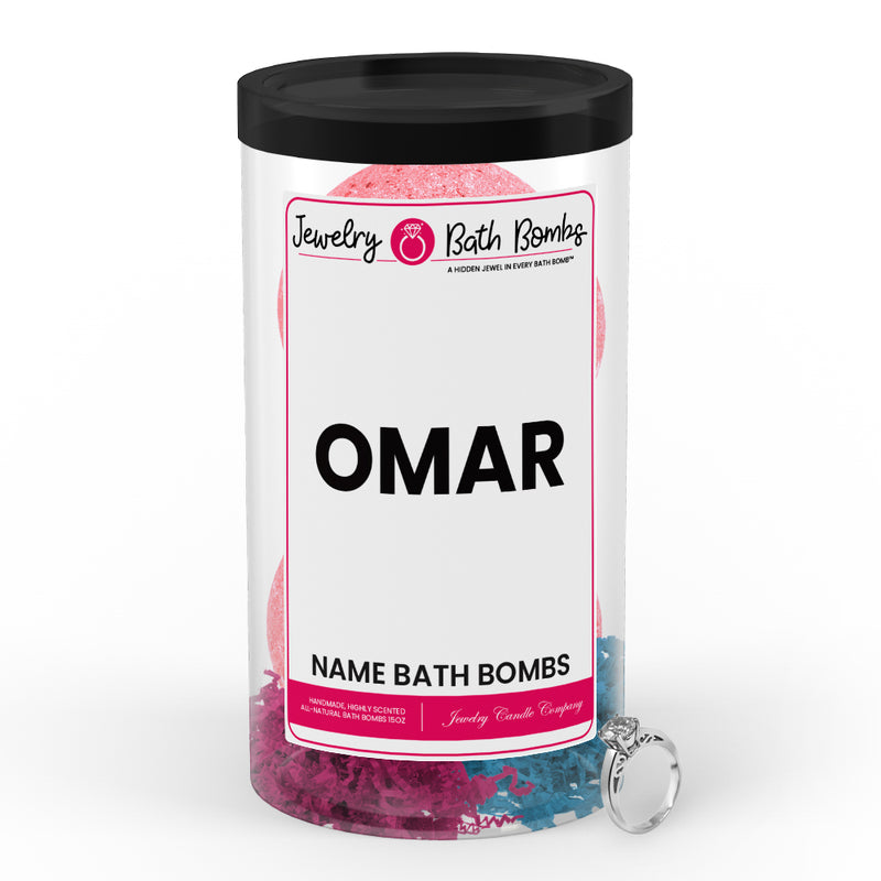 OMAR Name Jewelry Bath Bomb Tube