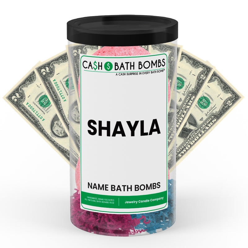 SHAYLA Name Cash Bath Bomb Tube