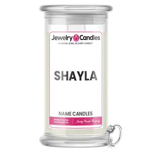 SHAYLA Name Jewelry Candles