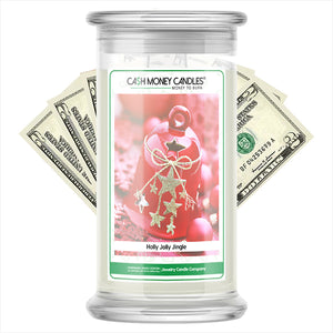 Holly Jolly Jingle Cash Money Candles
