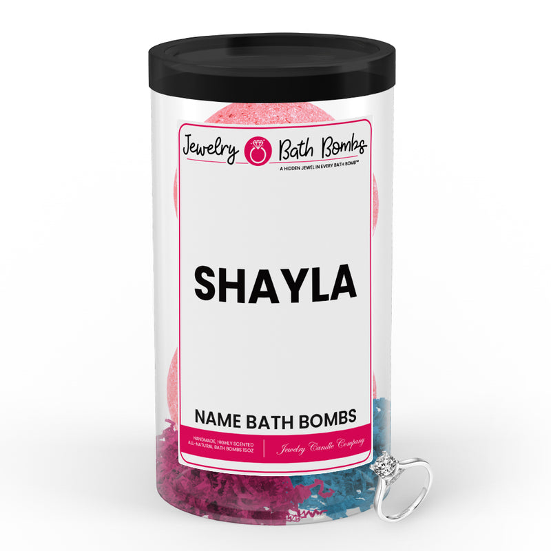 SHAYLA Name Jewelry Bath Bomb Tube