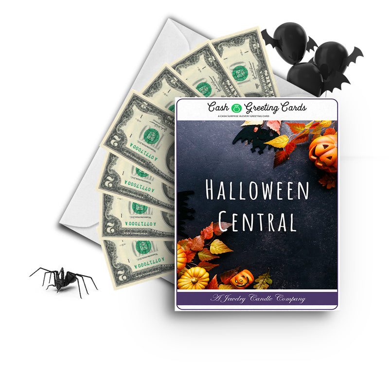 Halloween central Cash Greetings Card