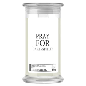 Pray For Bakersfield Candle