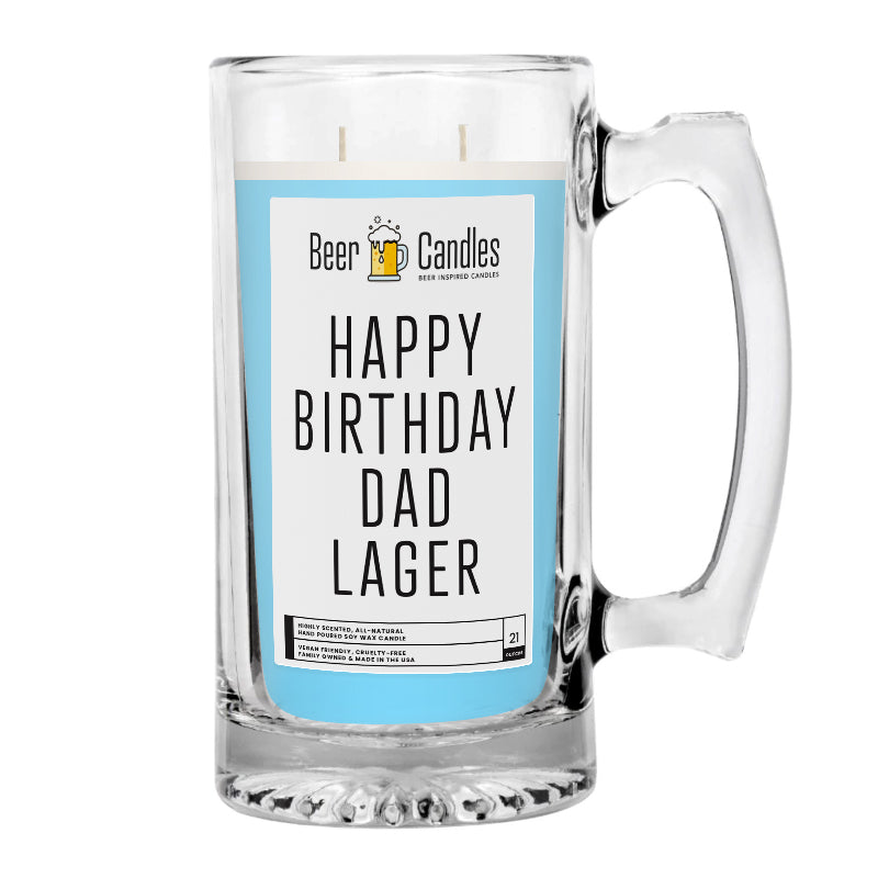Happy Birthday Dad Lager Beer Candle