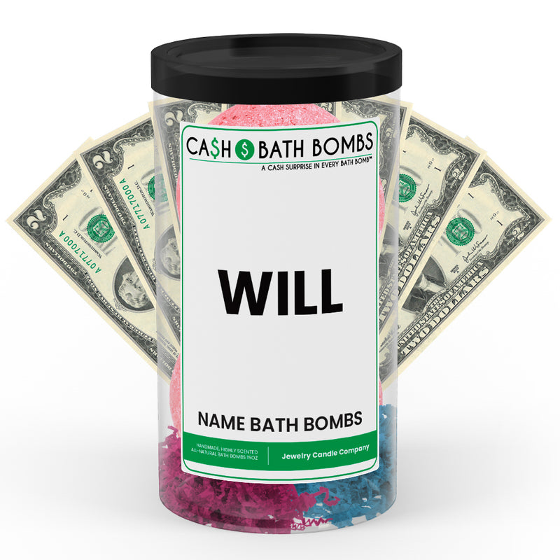 WILL Name Cash Bath Bomb Tube