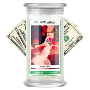Naughty or Nice Cash Money Candles