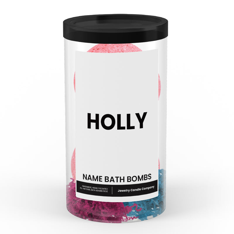 HOLLY Name Bath Bomb Tube