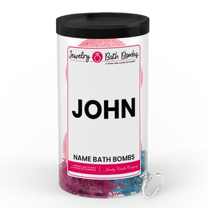 JOHN Name Jewelry Bath Bomb Tube