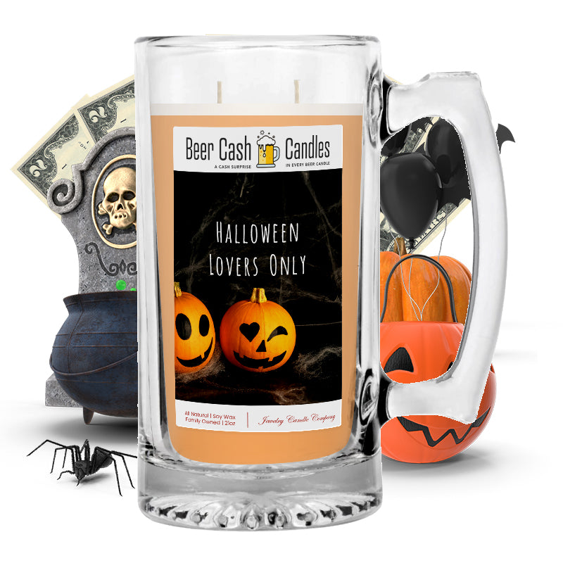 Halloween lovers only Beer Cash Candle