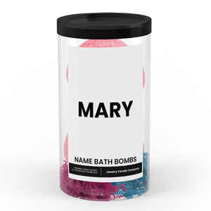 MARY Name Bath Bomb Tube
