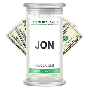 JON Name Cash Candles