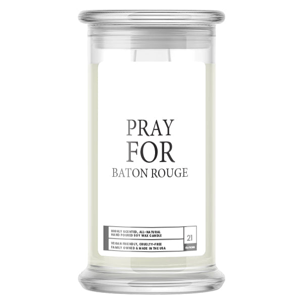 Pray For Baton Rouge Candle
