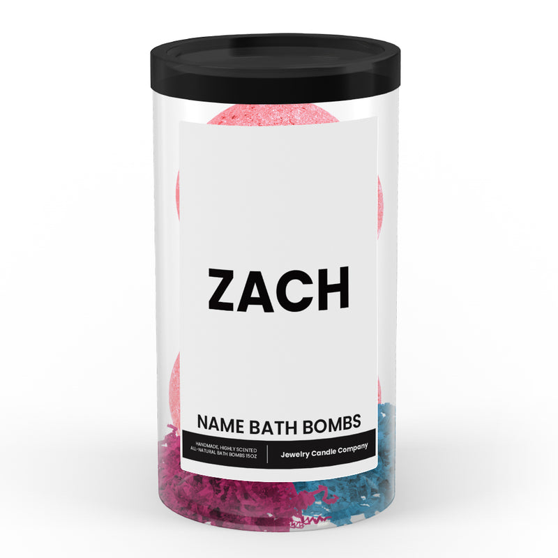 ZACH Name Bath Bomb Tube