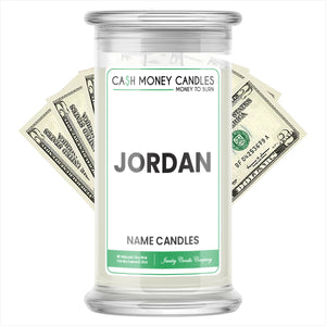 JORDAN Name Cash Candles